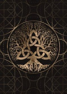 Tree of life Yggdrasil Inspirational Poster Print | metal posters | Displate thumbnail