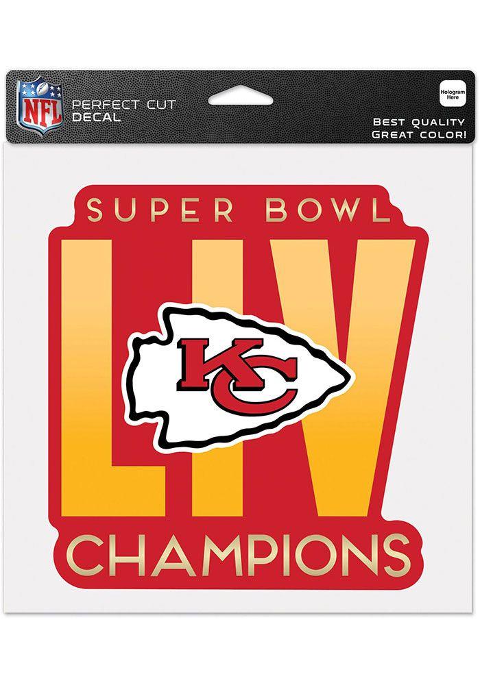 Kansas City Chiefs Super Bowl Liv Champions 8x8 Auto Decal Red 5719566 In 2021 Kansas City Chiefs Logo Kansas City Chiefs Chiefs Super Bowl