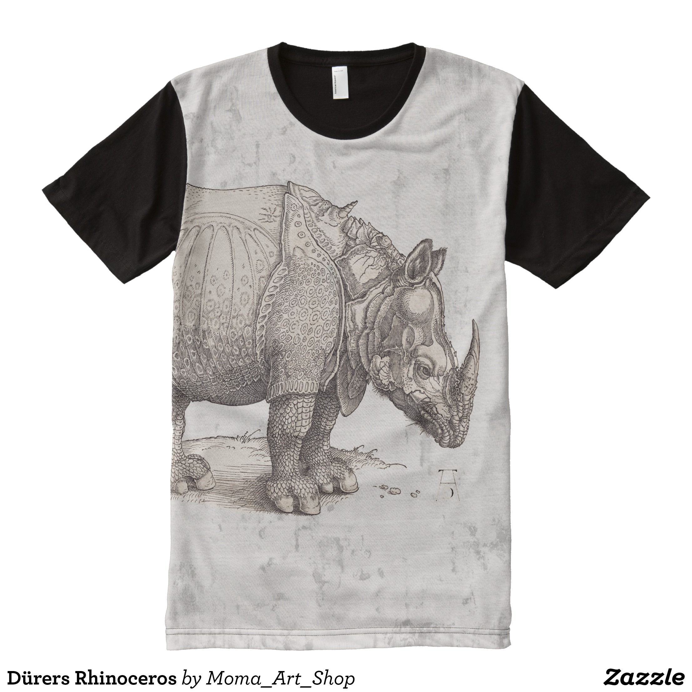 Durers Rhinoceros All Over Print Shirt Zazzle Com Printed Shirts Shirt Designs Shirts