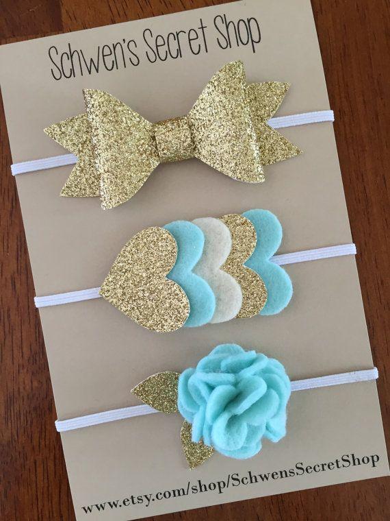 Beautiful felt headbands! Wouldn't these look perfect on your baby girl? #babyheadbands