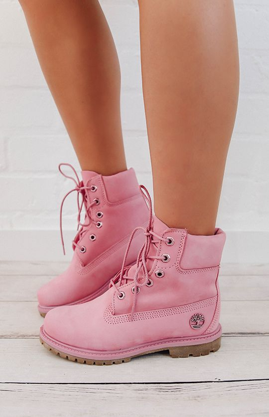 super popular d843f 01882 Timberland Womens 6-Inch Premium Waterproof Boots - Prism Pink from  peppermayo.com