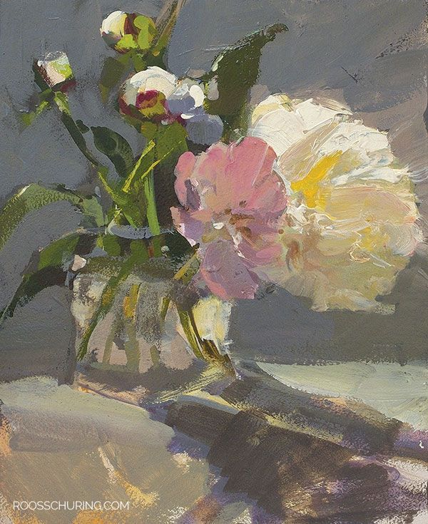 Painting Peonies in Sun is part of Painting, Flower painting, Floral painting, Art painting, Flower art, Still life painting - Painting Flowers   Peonies A good still life often has a fascinating play of light  Sometimes you can catch it, sometimes not  It's good to paint it, then put it aside  Not scrutinizing it, put it out of sight  Often, looking at it later, you'll be happily surprised  The good thing about creating floral still …