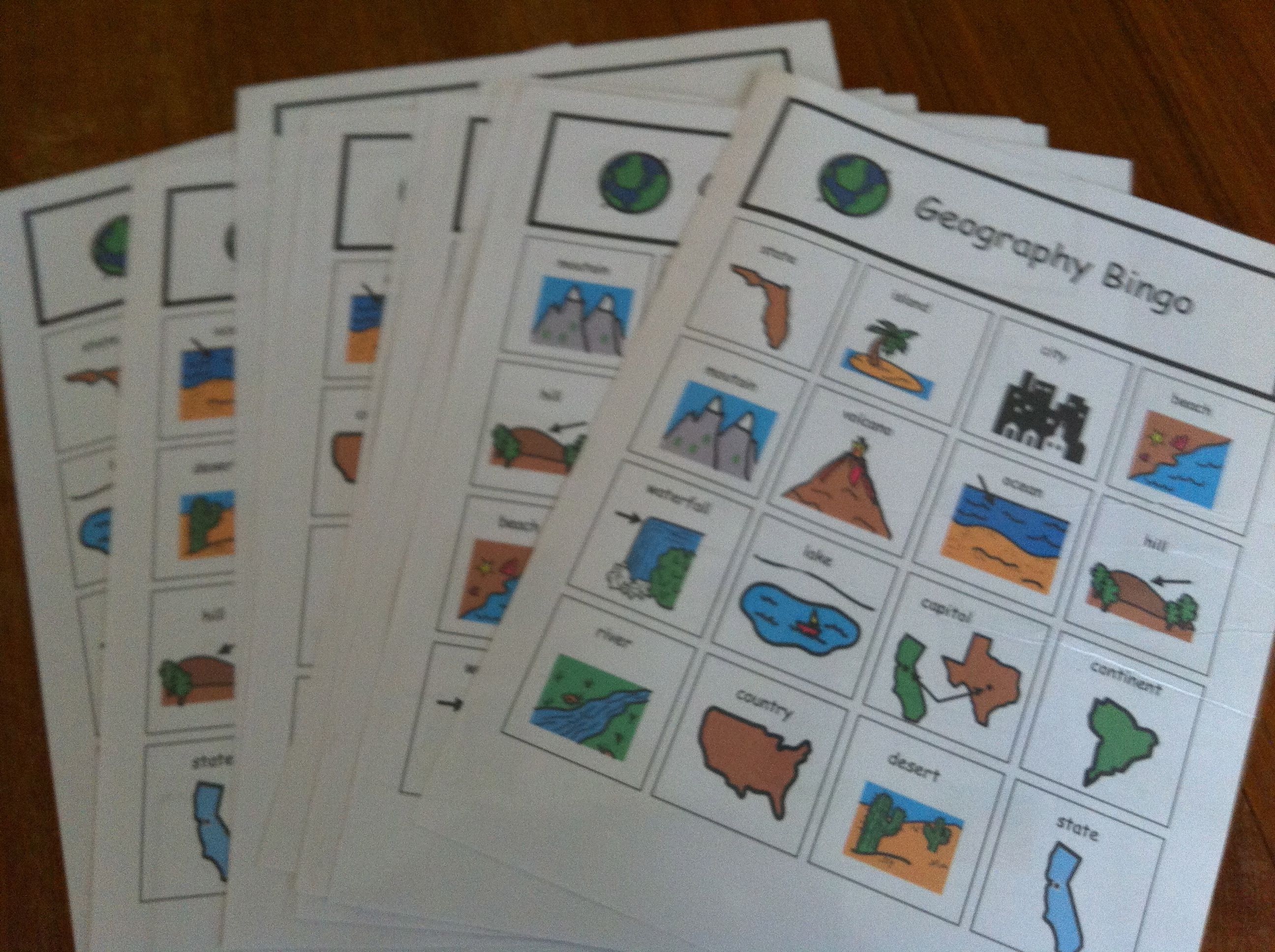 Geography Unit For Children With Special Needs