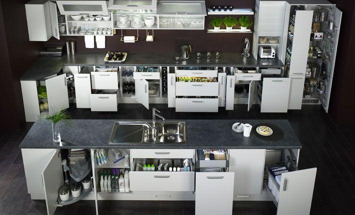 Internal Kitchen Pullout Storage Drawers In Larder Pinterest Ideas And