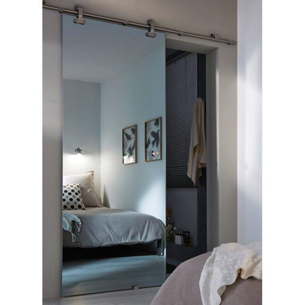 porte coulissante verre mirage effet miroir portes coulissantes porte coulissante verre et. Black Bedroom Furniture Sets. Home Design Ideas