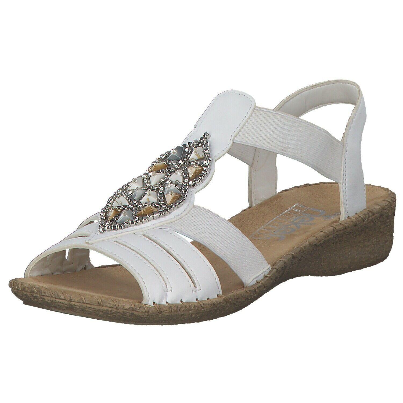 Rieker Damen Sandalen Sommerschuhe Pantoletten 61661 80 Weiss White Neu Pantoletten Damen Ideas Of Pantoletten Dame In 2020 Sandals Summer Mules Shoes Summer Shoes