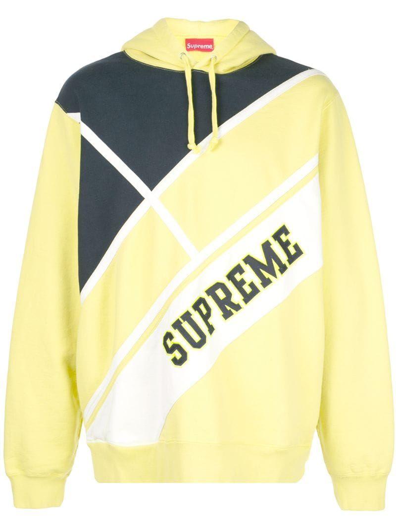 Supreme Logo Print Hoodie Yellow Modesens Supreme Clothing Yellow Hoodie Hoodie Print [ 1067 x 800 Pixel ]