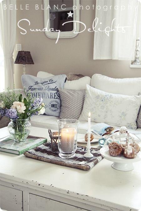 BELLE BLANC Belle Blanc Pinterest Wohnzimmer, Farben für - wandgestaltung landhausstil wohnzimmer