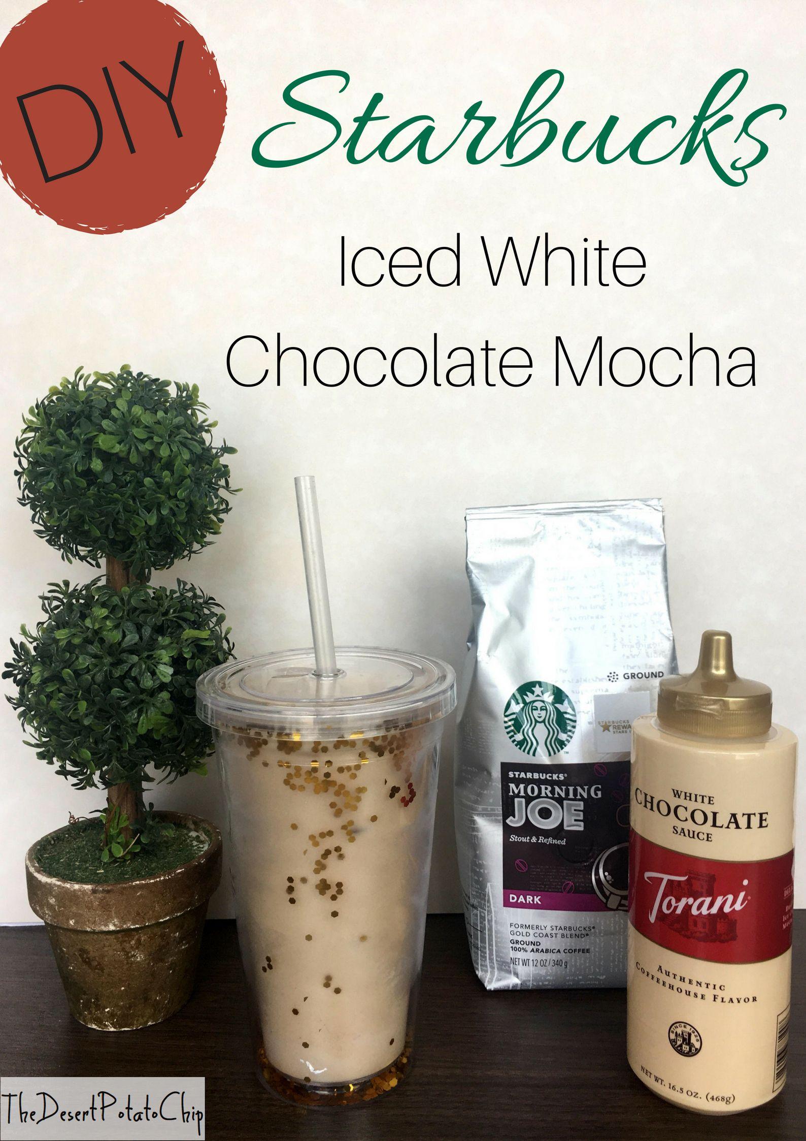 Easy diy starbucks iced white chocolate mocha iced white