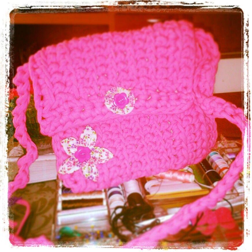 Bolso de trapillo supermono y rosa