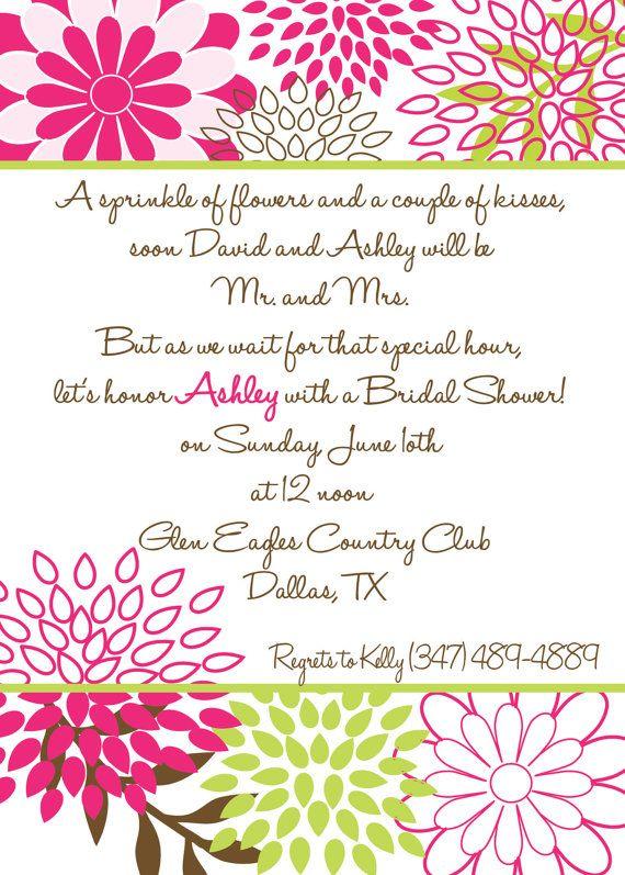 Bridal Shower Invite Cute Poem