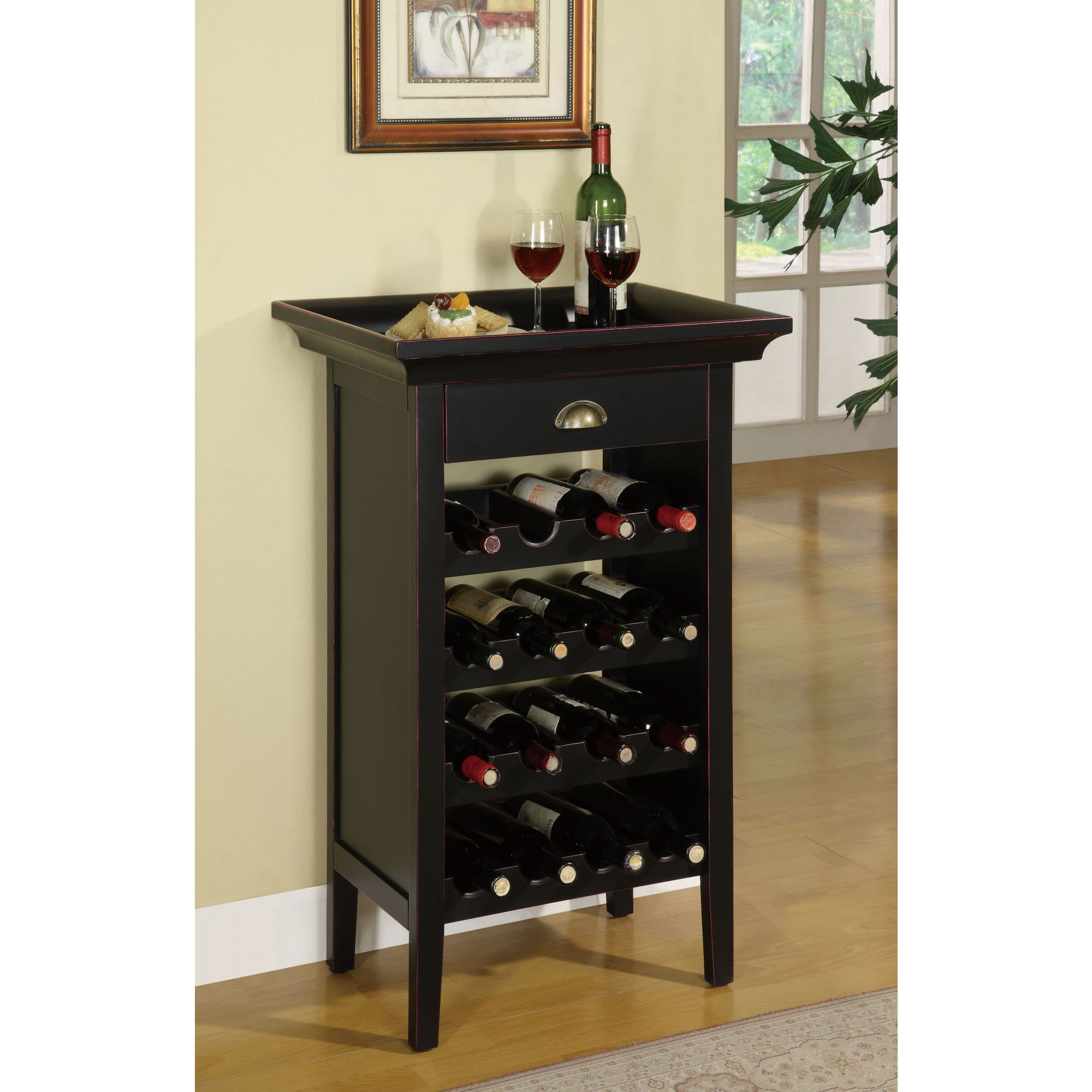 Liquor Cabinet Ideas: Wine Rack/ Table With Removable Tray. Compact....perfect