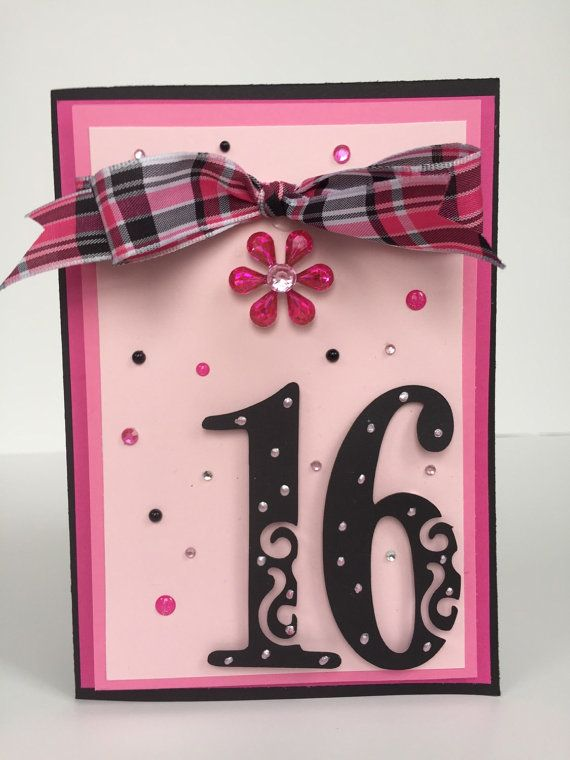 Sweet 16 card handmade birthday card girls birthday 16th birthday sweet 16 card handmade birthday card girls birthday 16th birthday card teen bookmarktalkfo Gallery