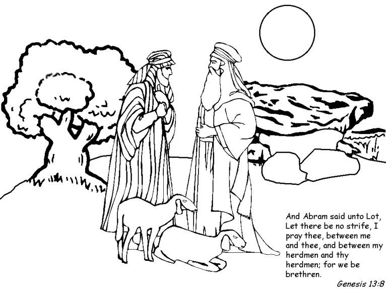 Abraham Coloring Page Abraham And Lot Bible Coloring Pages Abraham And Sarah
