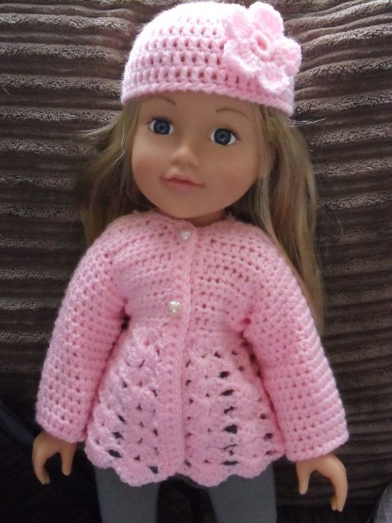 Crochet pattern for jacket and hat for 18 inch doll by petitedolls ...