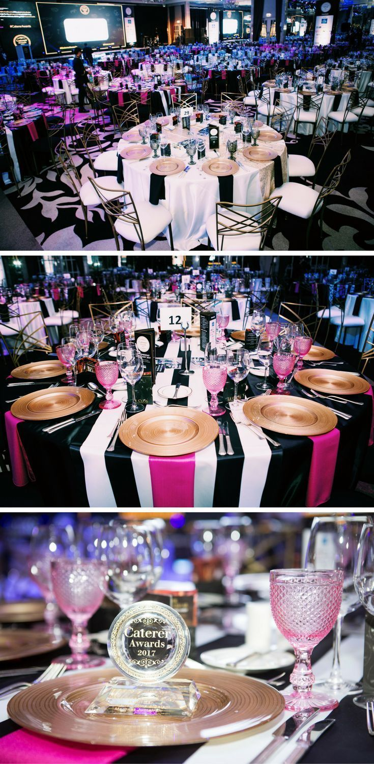 Pink and Black We were delighted to partner with the Caterer Awards 2017 and provide the furniture and tabletop rental for a wonderful event.
