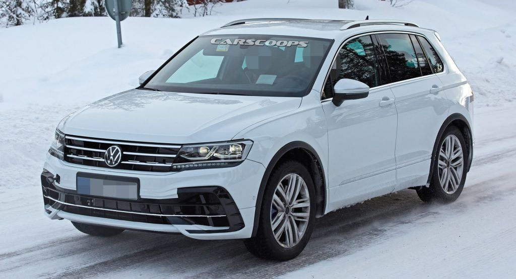 2021 Volkswagen Tiguan R Shows Quad Exhaust Pipes Likely ...