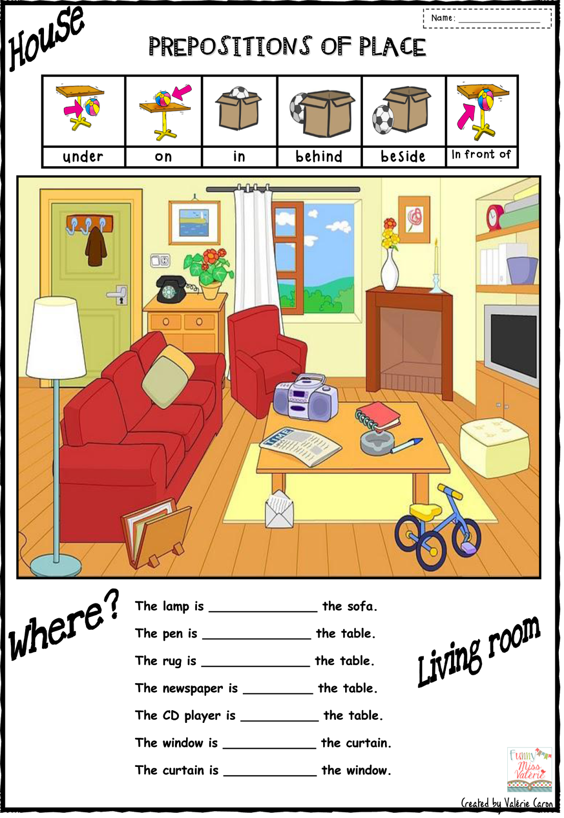 53 Awesome Prepositions Of Place Clipart