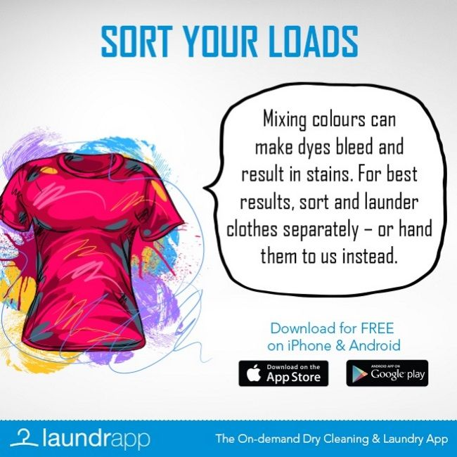 Another #LaundryDay #Lifehack from Laundrapp - sort your loads to ensure a cleaner clean!