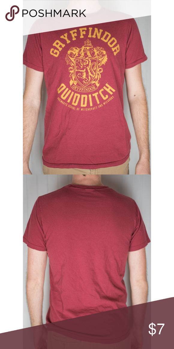 823643c3e Harry Potter Gryffindor Quidditch T shirt medium From Target. Fit &  style Crew cut