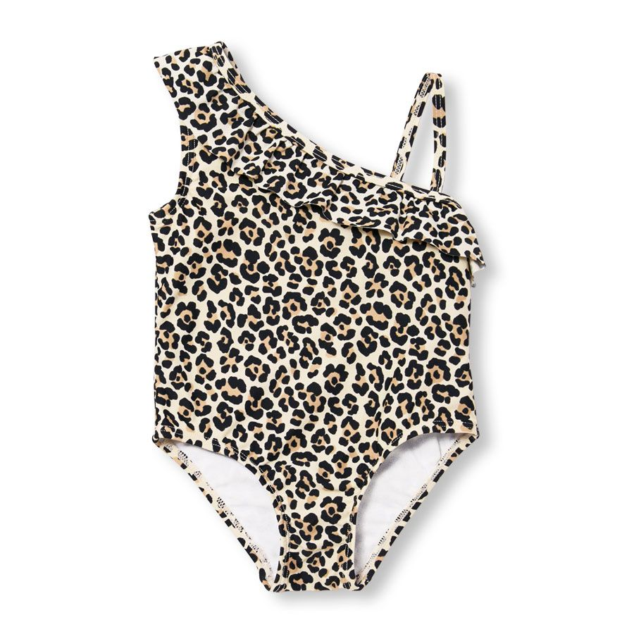 39459fe1f45 Baby And Toddler Girls Sleeveless Leopard Print Cross-Ruffle One-Piece  Swimsuit