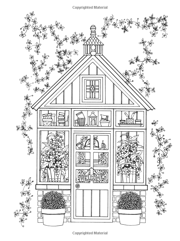 Creative Haven Whimsical Gardens Coloring Book Creative Haven Coloring Books Alexandra Cowell 978 Dover Coloring Pages Garden Coloring Pages Coloring Pages