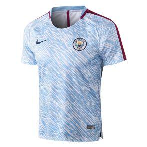 d7b4891d403d7 Camiseta de Entrenamiento Manchester City 2017 2018 Blanco Azul Rayado