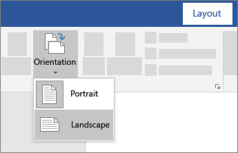 Change Page Orientation To Landscape Or Portrait Word Landscape Oriental Portrait