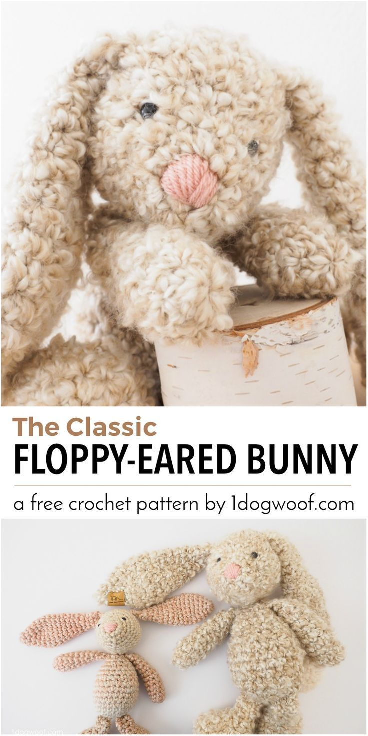 Classic Stuffed Bunny Crochet Pattern for Easter | Pinterest