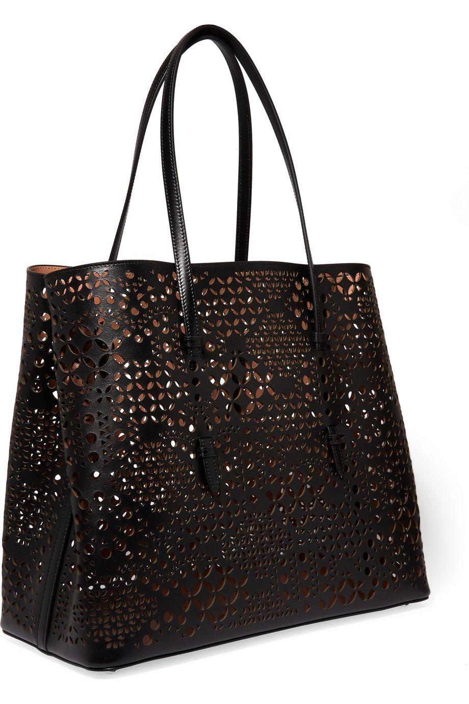 Alaïa   Laser-cut leather tote   NET-A-PORTER.COM   Leather Totes ... 91147be78c