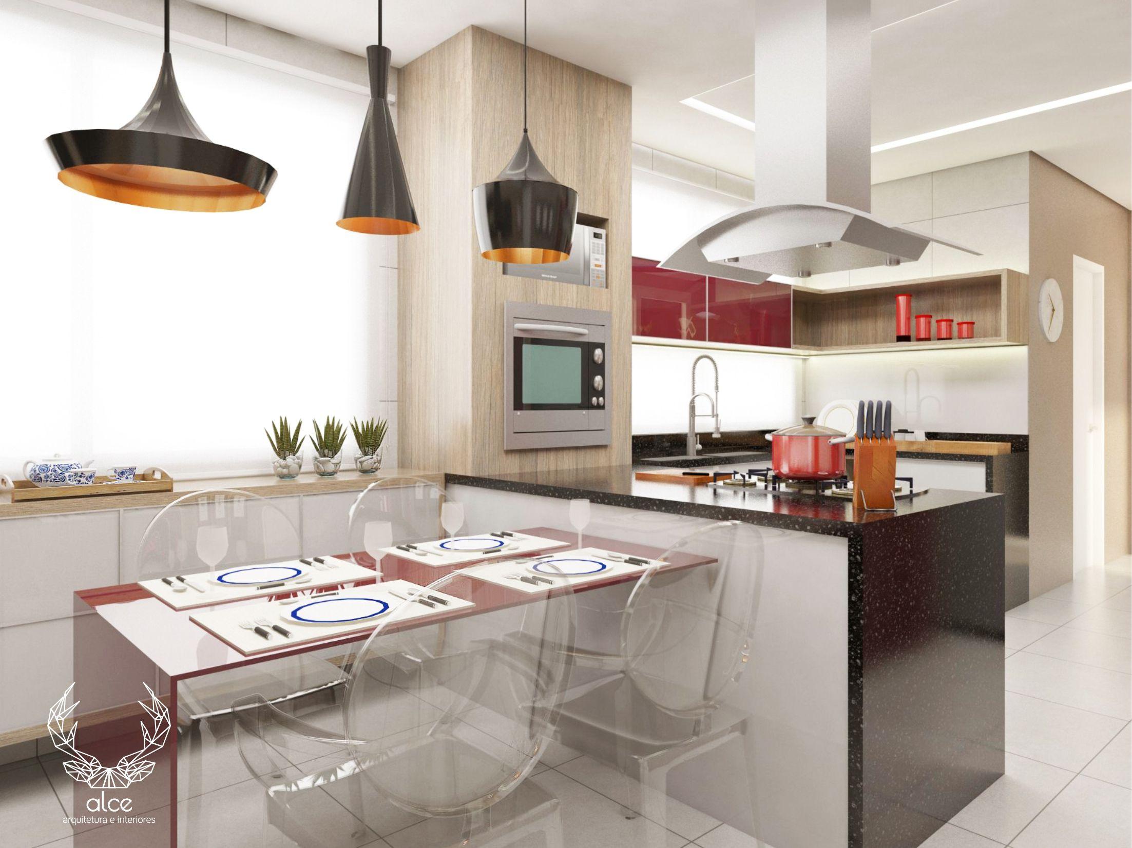 Cozinha Espa Osa E Iluminada Pendentes Modernos Ilha De Coc O