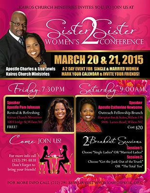 Sister2Sister Women's Conference Flyer Design Flyers