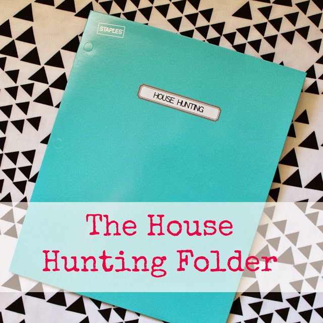"""""""31 Days Of Moving"""" Day 27: House Hunting Folder"""