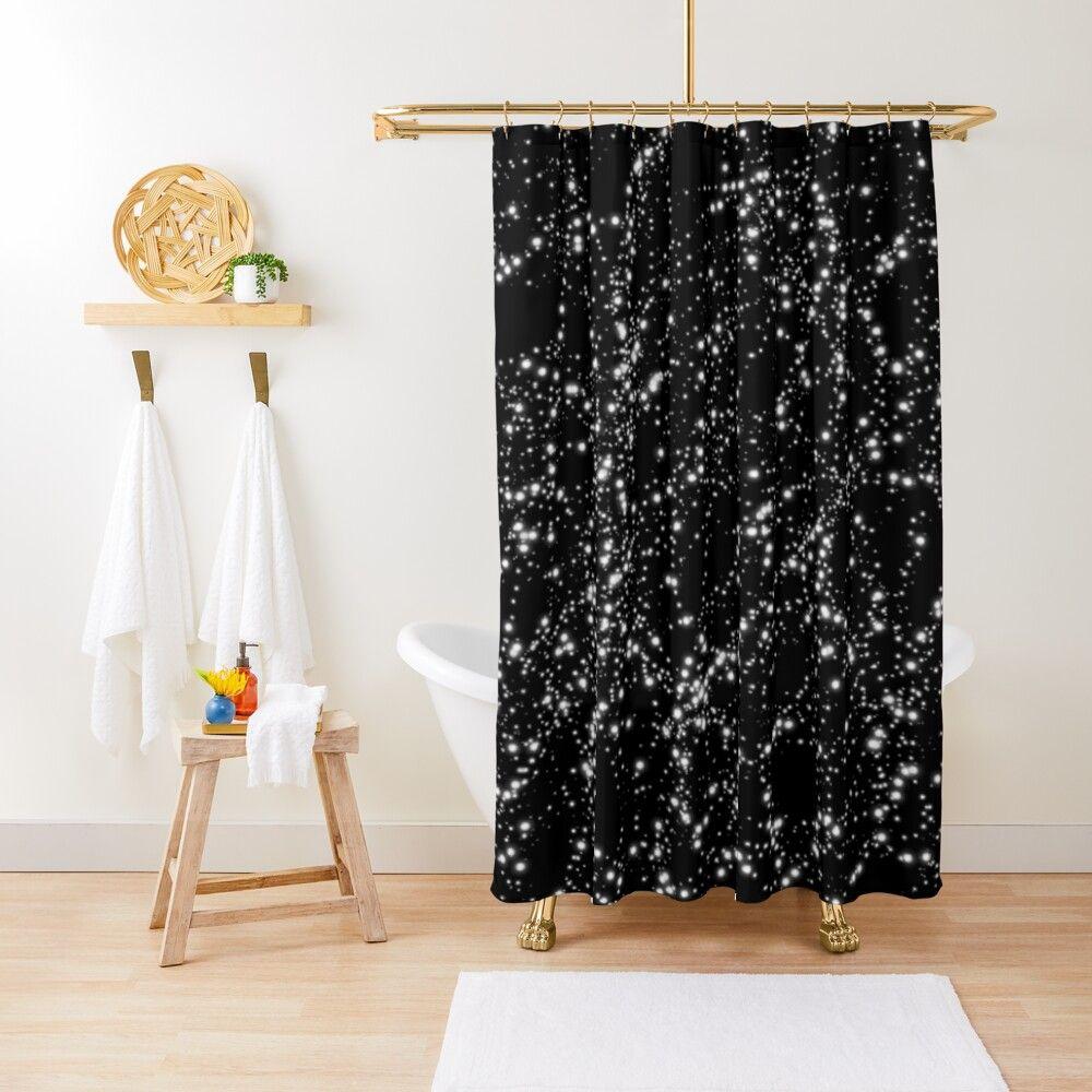 Stars In The Night Sky Shower Curtain By Mascar Vampiro
