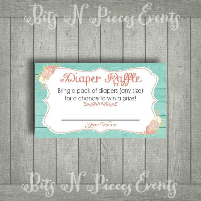 baby shower invitation wording for bringing diapers%0A Baby Shower Diaper Raffle Ticket  BabyQ Baby Shower  BabyQue  Invitation  DIY Printable Handmade Baby shower Diaper Raffle Raffle Cards Diaper  Vintage