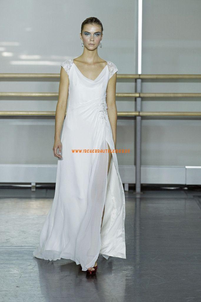 Kolunme Einfache Hochzeitskleider aus Chiffon