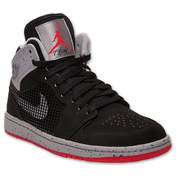 Air Jordan 1 Retro 89  Black Fire RedCement Grey