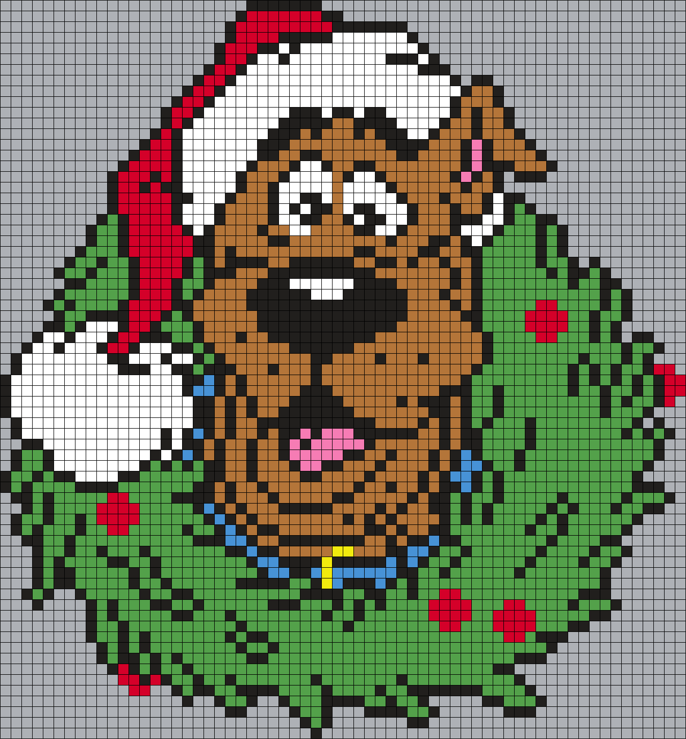 Scooby-Doo Christmas Wreath (Square Grid) by Maninthebook on Kandi ...