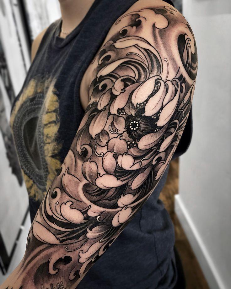 Half sleeve in progress gurutattoo tattoos tribal