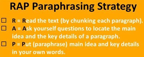 Paraphrasing V Plagiarism Reading Strategie Anchor Chart Teaching Writing Classroom When I