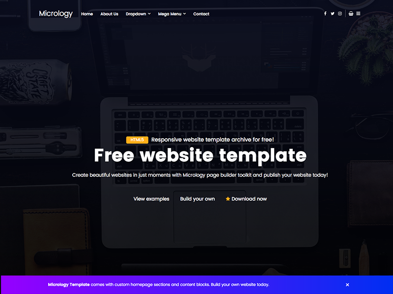 Hello friends every week we share a new free website template meet hello friends every week we share a new free website template meet micrology now its 100 free for personal or commercial usage maxwellsz
