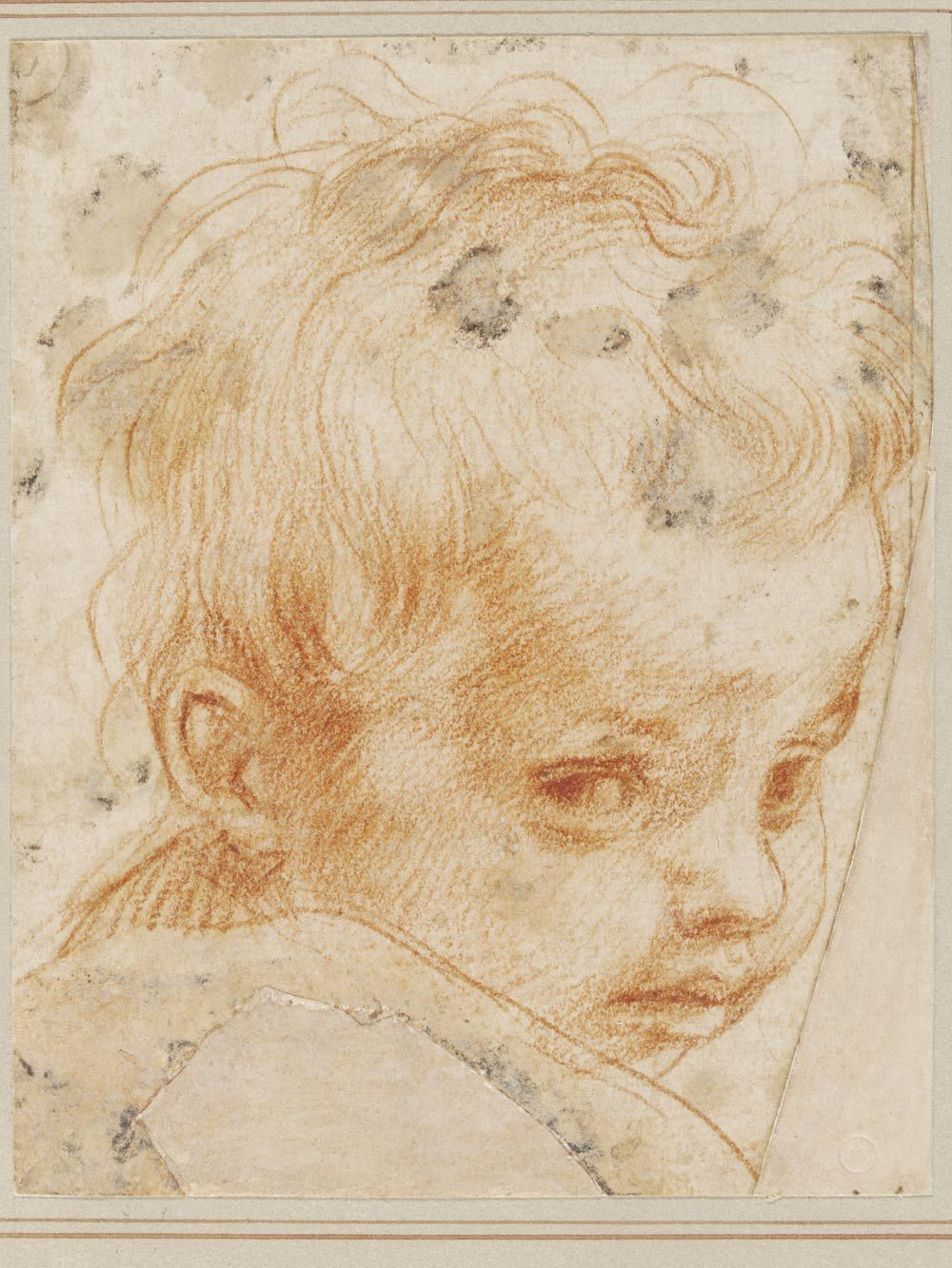 Study for the head of jesus in the painting of the holy family andrea del sarto