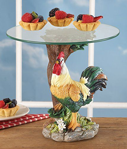 Country rooster glass serving plate collections etc http www amazon com
