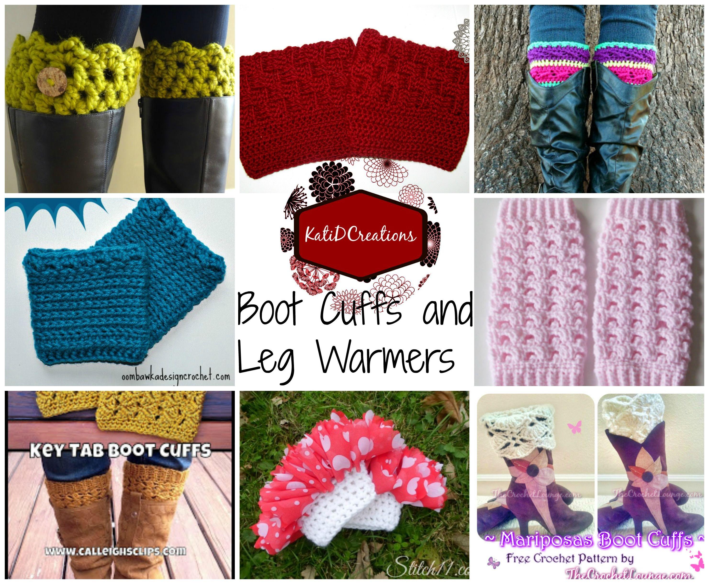 Boot Cuffs and Leg Warmers | Crochet ideas | Pinterest | Medias y Ropa