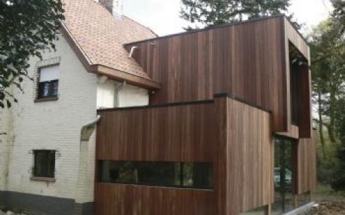 Afbeeldingsresultaat voor houten gevelbekleding moderne aanbouw