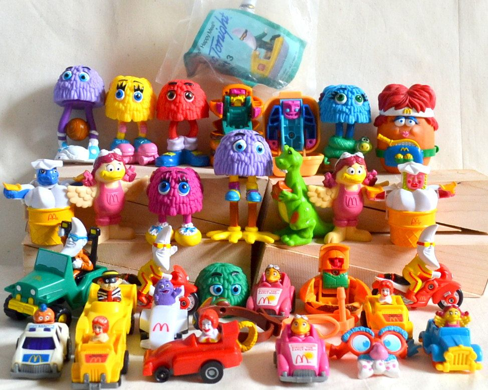 RESERVED Vintage McDonalds Toys 1980s 90s Lot Of 32 Happy Meal