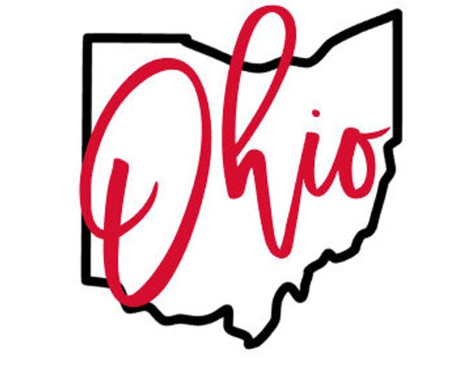 The Ohio State Outline SVG file - Ohio Outline SVG design - Ohio SVG