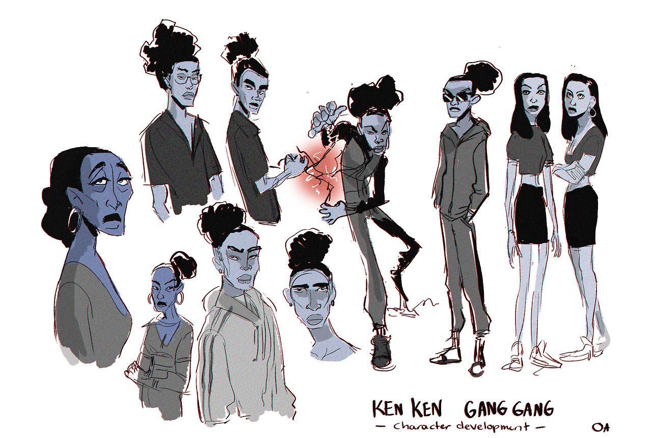 A little bit of character development for a comic series my friend wants to make. - http://livamoah.tumblr.com