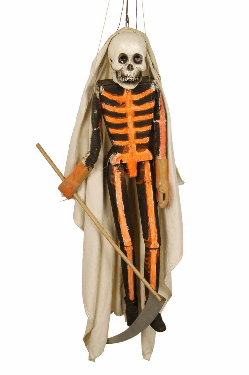 * La Mort, marionnette à tringle et à fils  -  Richard, Louis