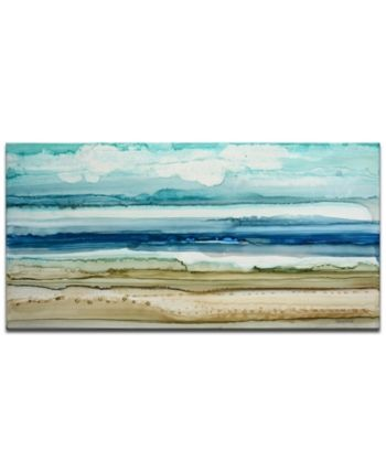 Ready2HangArt, 'Beach Shore' Abstract Canvas Wall Art, 24x48
